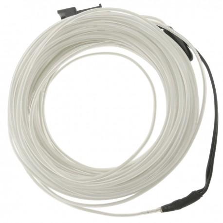 Cable electroluminiscente blanco-azul de 1.3mm en bobina 5m de cable con pilas