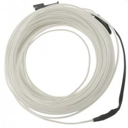 Cable electroluminiscente blanco de 1.3mm en bobina 5m de cable con pilas