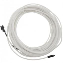 Cable electroluminiscente blanco-azul de 3.2mm en bobina 5m de cable con pilas