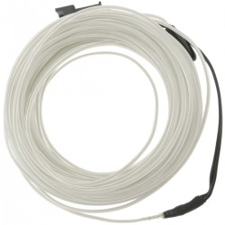 Cable electroluminiscente blanco de 3.2mm en bobina 5m de cable con pilas
