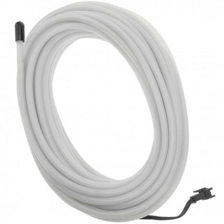 Cable electroluminiscente blanco de 5mm en bobina 5m de cable con pilas