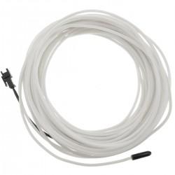 Cable electroluminiscente blanco-azul de 1.3mm en bobina 10m de cable conectada a 220VAC