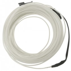 Cable electroluminiscente blanco de 1.3mm en bobina 10m de cable conectada a 220VAC