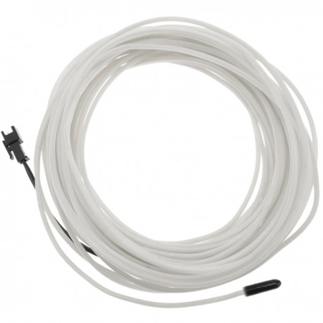 Cable electroluminiscente blanco-azul de 3.2mm en bobina 10m de cable conectada a 220VAC