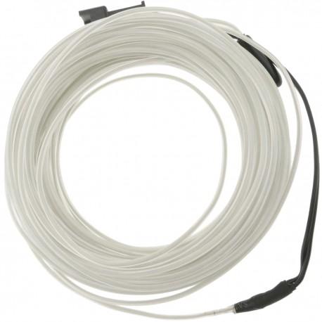 Cable electroluminiscente transparente-blanco de 3.2mm en bobina 10m de cable conectada a 220VAC