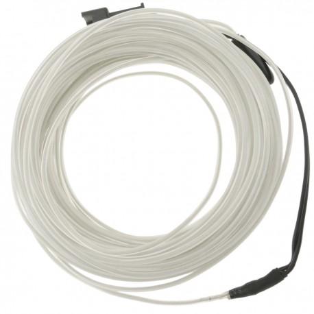 Cable electroluminiscente blanco de 3.2mm en bobina 10m de cable conectada a 220VAC