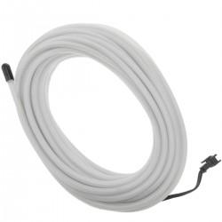 Cable electroluminiscente blanco de 5mm en bobina 10m de cable conectada a 220VAC