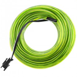 Cable electroluminiscente verde suave de 2.3mm en bobina 25m
