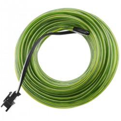 Cable electroluminiscente verde fuerte de 2.3mm en bobina 25m