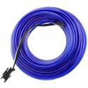 Cable electroluminiscente azul de 2.3mm en bobina 25m