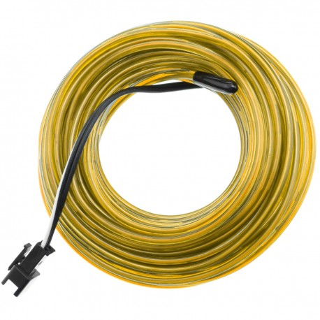 Cable electroluminiscente dorado de 2.3mm en bobina 25m