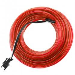 Cable electroluminiscente rojo de 2.3mm en bobina 25m