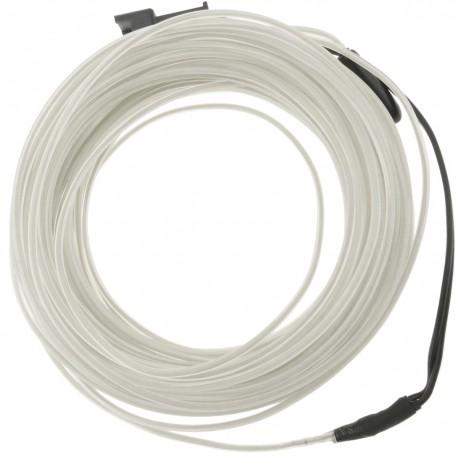 Cable electroluminiscente transparente-blanco de 2.3mm en bobina 25m