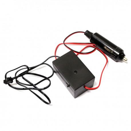 Inversor para cable electroluminiscente tipo mechero de coche para longitud de 5-10m