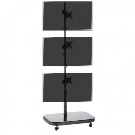 Soporte de TV VESA 50 75 100 para 3 pantallas en vertical