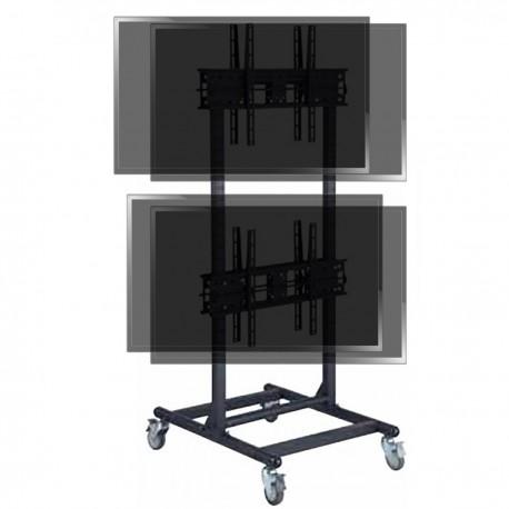 """Soporte de TV para 2x2 pantallas en vertical de 32""""-56"""" VESA 600x400 mm dual"""
