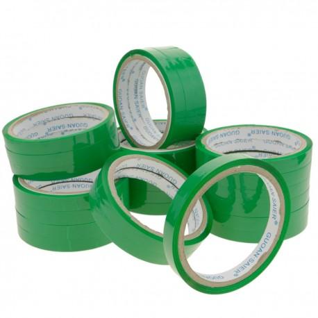 Cinta adhesiva verde para precintadora cierra bolsas de plástico 24-pack