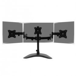 Soporte de 3 pantallas de TV para sobremesa y con peana VESA 75x75 100x100