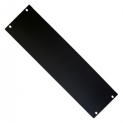 "Panel ciego de 3U para armario rack 19"" Tapa negra"