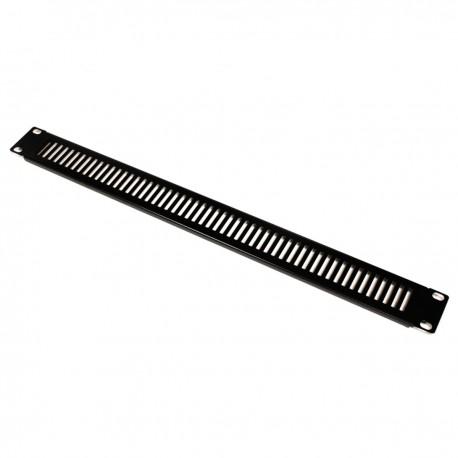 """Panel de rejilla de 1U para armario rack 19"""" Tapa de ventilación negra"""