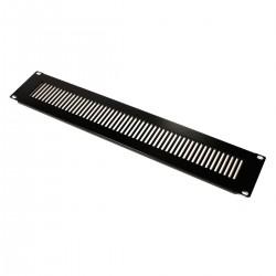 """Panel de rejilla de 2U para armario rack 19"""" Tapa de ventilación negra"""