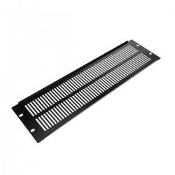 """Panel de rejilla de 3U para armario rack 19"""" Tapa de ventilación negra"""
