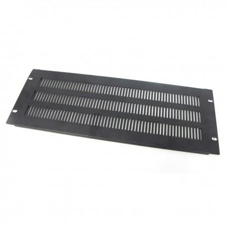 """Panel de rejilla de 4U para armario rack 19"""" Tapa de ventilación negra"""