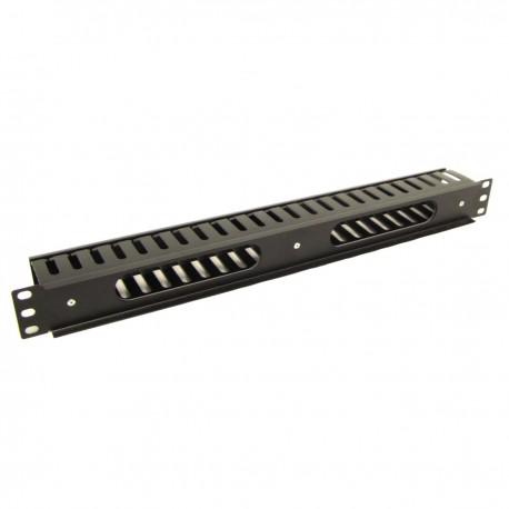 """Panel guíacables para armario rack 19"""" 1U para gestión de cables 50mm"""