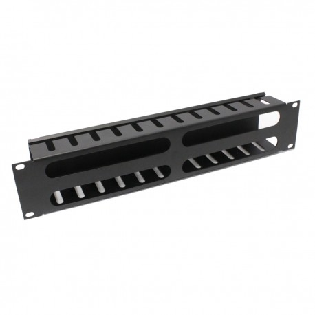 Panel de gestión ordenación de cables para armario rack de 2U x 74 mm
