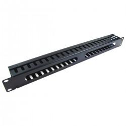 """Panel guíacables para armario rack 19"""" 1U para gestión de cables 45mm"""
