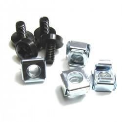 Tornillos M6 para rack-19 4-pack de color negro