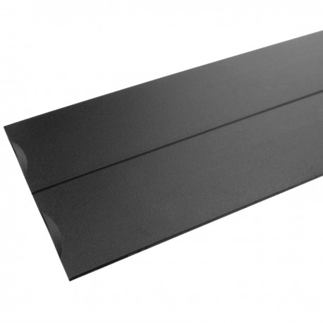 """Panel ciego de 2U para armario rack 19"""" Tapa negra a presión"""