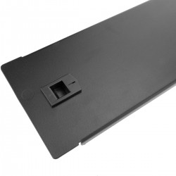 "Panel ciego de 2U para armario rack 19"" Tapa metal negra a presión"
