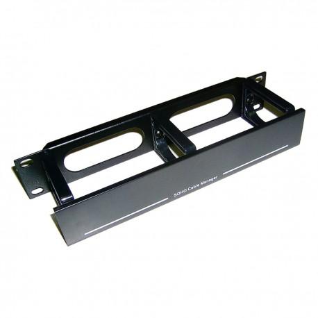 """RackMatic TENRack Panel Gestión Cables 10"""" de 3 anillas con tapa"""