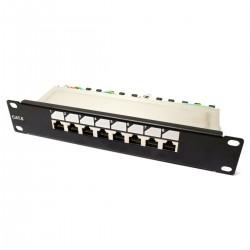 "RackMatic TENRack Patch-Panel 10"" 8-Port RJ45 Cat.6 FTP 1U"