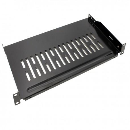 """Bandeja estanteria para armario rack 19"""" fijación frontal 1U profundidad de 255 mm"""