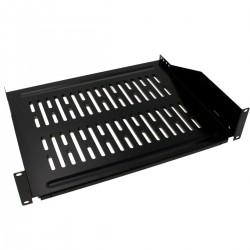 Bandeja rack de fijación frontal de 2U y profundidad 355 mm