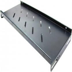 Bandeja para rack-19 con fijación lateral de profundidad 200 mm y ancho 465 mm