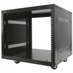 """Armario rack de estudio 19"""" 8U 507x460x420mm con ruedas SOHORack desmontado DIY"""