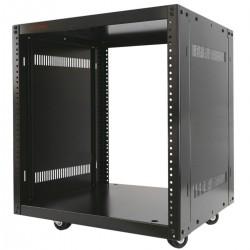 """Armario rack de estudio 19"""" 12U 507x460x600mm con ruedas SOHORack desmontado DIY"""