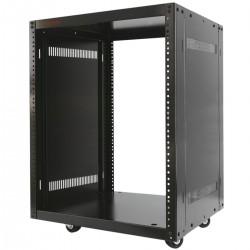 """Armario rack de estudio 19"""" 16U 507x460x780mm con ruedas SOHORack desmontado DIY"""