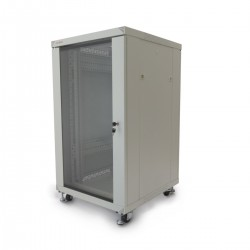 "Armario rack 19"" de pie 20U 600x600x1000mm blanco MobiRack de RackMatic"