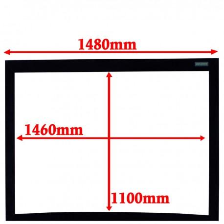Pantalla de proyección curva 4:3 pared fija 1460x1100mm