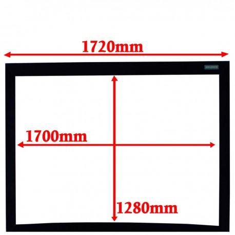 Pantalla de proyección curva 4:3 pared fija 1280x1700mm