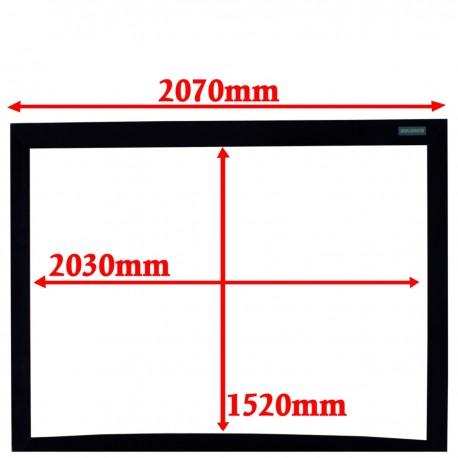 Pantalla de proyección curva 4:3 pared fija 2030x1520mm