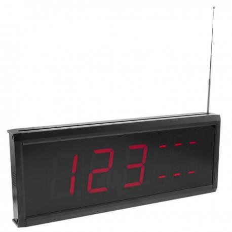 Visor LED para sistema de llamada inalámbrico 999 códigos 410x158 mm 3 números para restaurante
