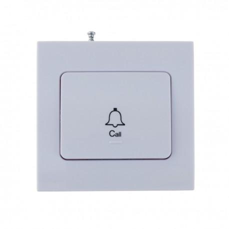 Pulsador emisor transmisor para sistema de llamada inalámbrico de pared 1000m 1 tecla
