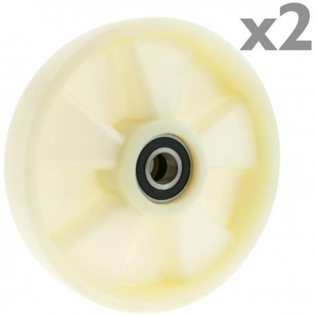 Rueda para transpaleta Rodillo de nailon de 180x50 mm 800 Kg 2-pack