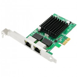 Tarjeta PCI-Express Ethernet Gigabit 10/100/1000Base-Tx (2xRJ45)