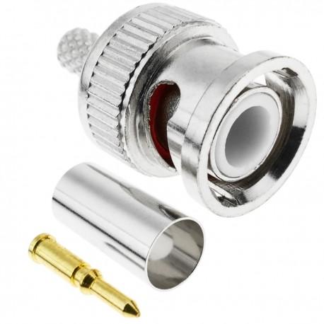 Conector de cable coaxial BNC macho (RG58)